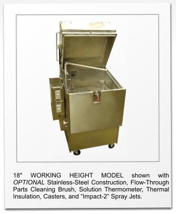 Roto-Jet Model RJ-100 Parts Washer  (in OPTIONAL Stainless Steel)